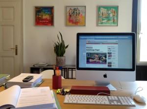Schreibtisch # 58 Zink