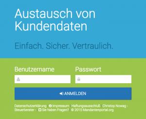 Mandantenportal - Steuerberater Nowag - Stuttgart